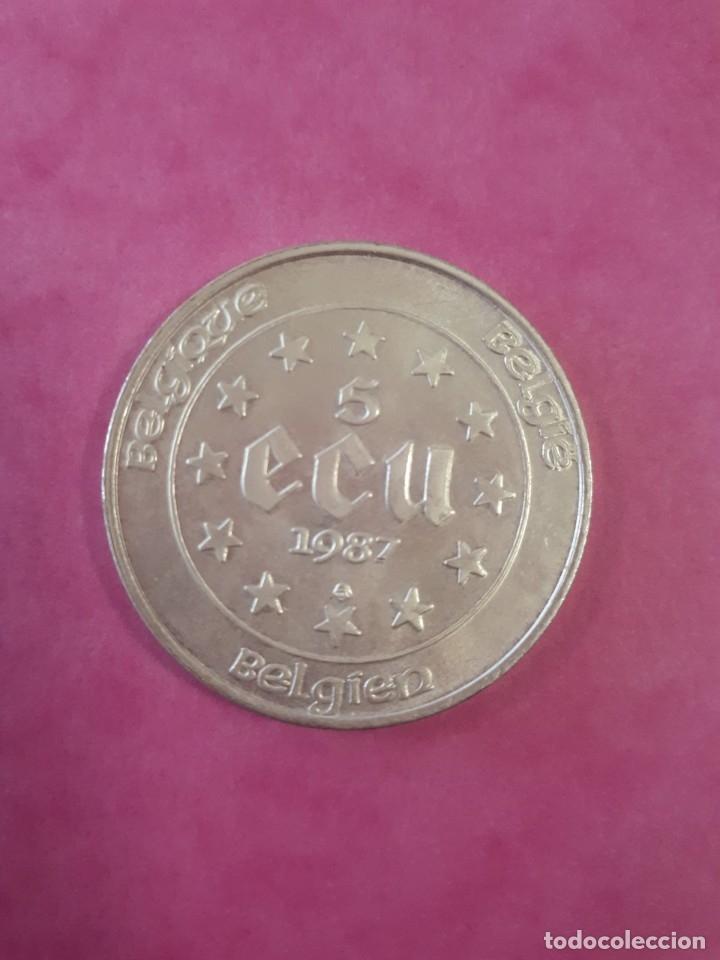 Euros: 5 ECU PLATA 1987 BELGICA CARLOS V - Foto 2 - 182964797