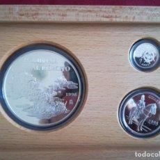 Euros: SET MONEDAS ESPAÑA 25 (168,75GR) , 5 , 1 EURO 1998 PLATA 925 PROOF NOMENAJE AL EJERCITO. Lote 182982572