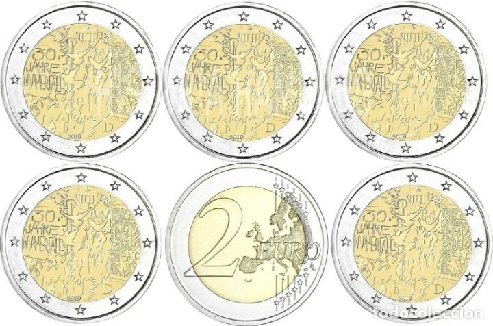 ALEMANIAL 5 X 2 EUROS 2019 ADFGJ CONM. 30 AÑOS CAIDA MURO DE BERLÍN- SIN CIRCULAR - (Numismática - España Modernas y Contemporáneas - Ecus y Euros)
