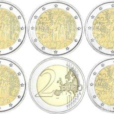 Euros: ALEMANIAL 5 X 2 EUROS 2019 ADFGJ CONM. 30 AÑOS CAIDA MURO DE BERLÍN- SIN CIRCULAR - . Lote 182987935