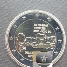 Euros: MALTA 2 EUROS 2019 CONM. TEMPLOS DE TA HAGRAT - CON MARCA DE CECA F MDP - DE ROLLO. Lote 183184332