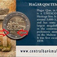 Euros: MALTA 2 EUROS 2017 CONM. CON MARCA DE CECA CORNUCOPIA MDP - EN COINCARD. Lote 183185412