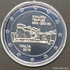 Euros: MALTA 2 EUROS 2018 CONM. TEMPLOS DE MNAJDRA - CON MARCA DE CECA F MDP -. Lote 183195345