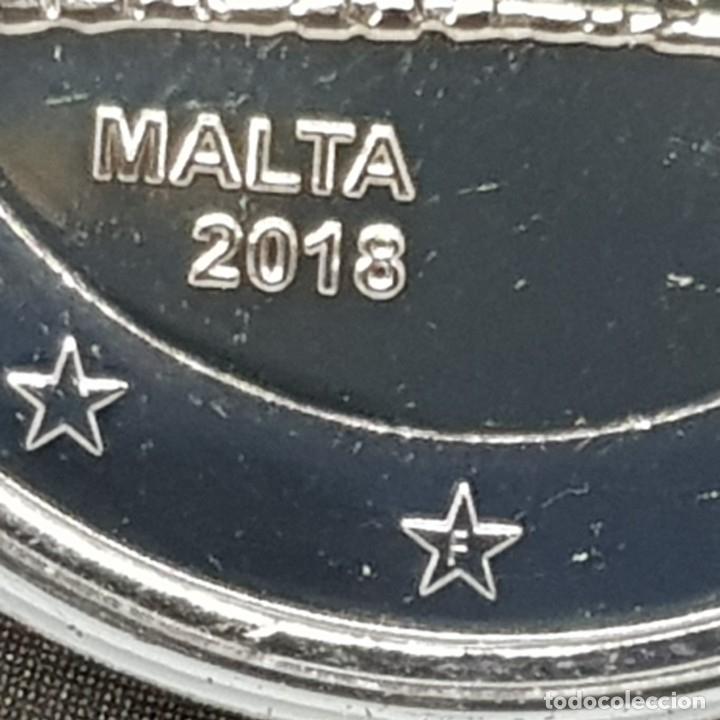 Euros: MALTA 2 EUROS 2018 CONM. TEMPLOS DE MNAJDRA - CON MARCA DE CECA F MdP - - Foto 2 - 183195345