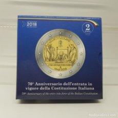Euros: ITALIA 2 EUROS 2018 PROOF - CONM. 70 ANIV.CONSTITUCION - EN ESTUCHE OFICIAL. Lote 183399875