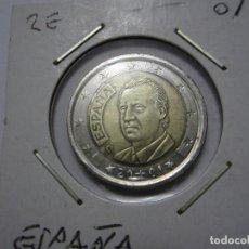 Euros: MONEDA DE 2 EUROS DE ESPAÑA 2001. Lote 183429295