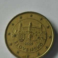 Euros: ESLOVAQUIA 50 CÉNTIMOS EURO 2009. Lote 183485988