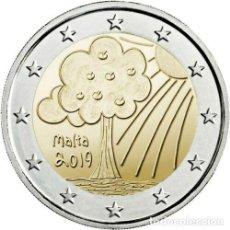 Euros: 2 EUROS CONMEMORATIVA MALTA 2019 NATURALEZA SC. Lote 183527235