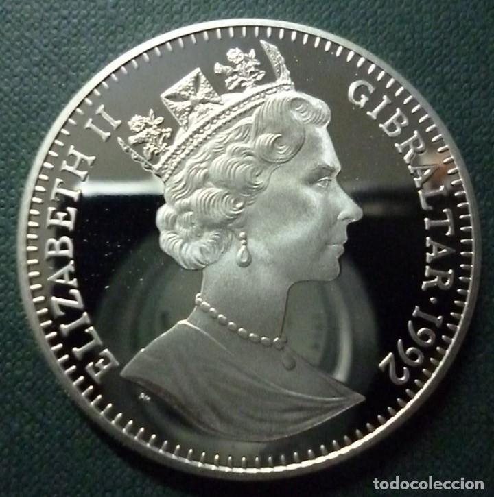 Euros: 1991 Gibraltar Large Proof 35 Ecu CABALLERO CON ARMADURA - Foto 2 - 183726078