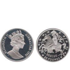 Euros: GIBRALTAR - K-625 - 35 ECUS - 25 LIBRAS 1992 , PROOF. Lote 183726433