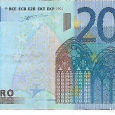 Euros: BILLETE 20 EUROS 2002 FIRMA DUISENBERG SERIE V PLANCHA M011G2 SIN CIRCULAR. Lote 183893320