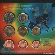 Euros: BLISTER ESPAÑA EUROS 2002. Lote 183984255