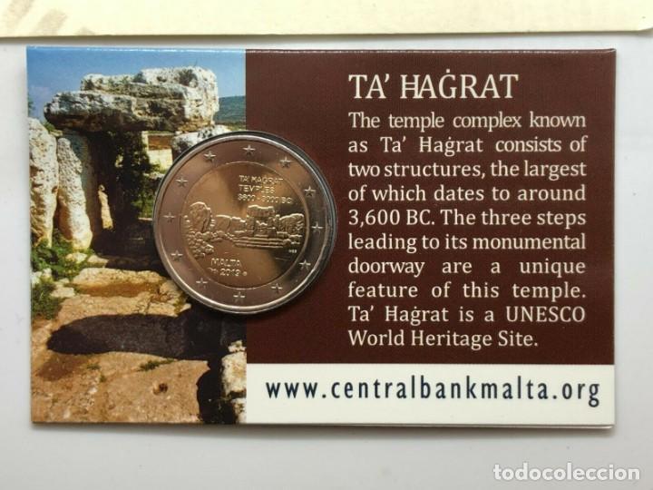 MALTA 2019 2€ COINCARD TEMPLOS DE TA' ĦAĠRAT CECA CORNUCOPIA (Numismática - España Modernas y Contemporáneas - Ecus y Euros)