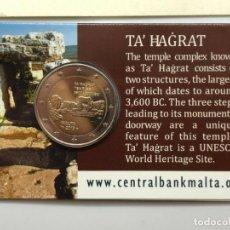 Euros: MALTA 2019 2€ COINCARD TEMPLOS DE TA' ĦAĠRAT CECA CORNUCOPIA. Lote 184140493