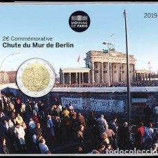 Euros: FRANCIA 2019 2€ COINCARD30 AÑOS DE LA CAÍDA DEL MURO DE BERLÍN. Lote 184143011
