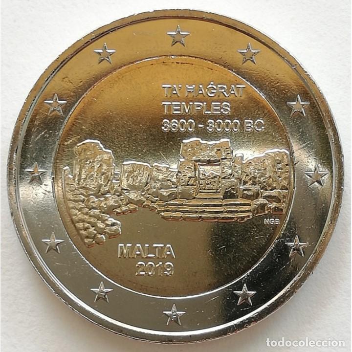 MALTA 2019 2 EUROS CONMEMORATIVOS TA HAGRAT MARCA DE CECA F (Numismática - España Modernas y Contemporáneas - Ecus y Euros)