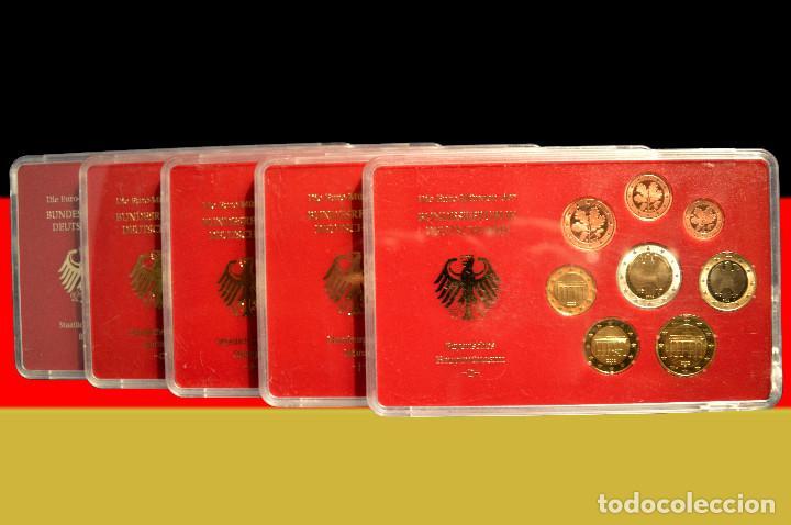 EUROSET EUROS ALEMANIA LAS 5 CECAS EN ESTUCHES EURO 2002 (Numismática - España Modernas y Contemporáneas - Ecus y Euros)