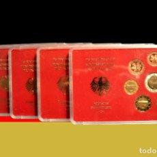 Euros: EUROSET EUROS ALEMANIA LAS 5 CECAS EN ESTUCHES EURO 2002. Lote 103747403