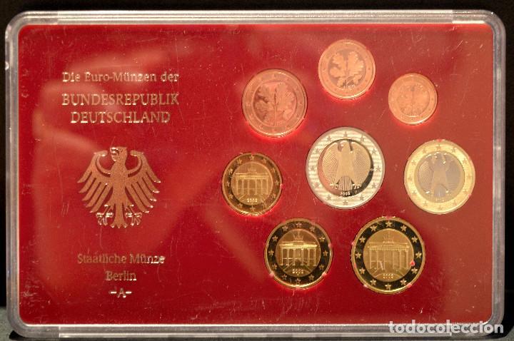 Euros: EUROSET EUROS ALEMANIA LAS 5 CECAS EN ESTUCHES EURO 2002 - Foto 2 - 103747403