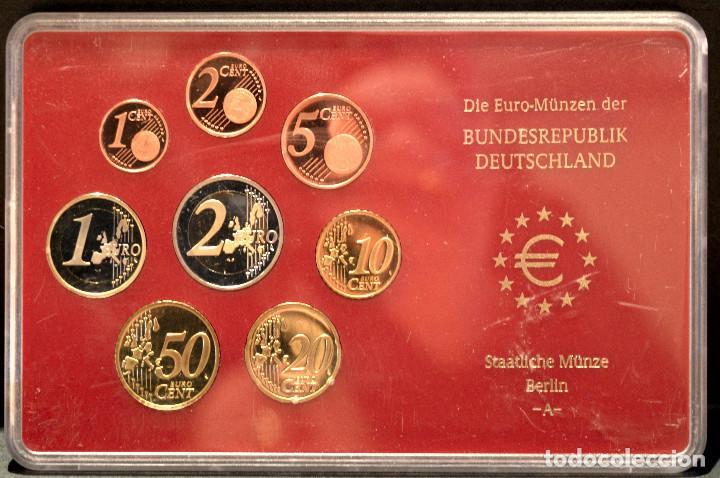 Euros: EUROSET EUROS ALEMANIA LAS 5 CECAS EN ESTUCHES EURO 2002 - Foto 3 - 103747403