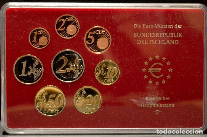 Euros: EUROSET EUROS ALEMANIA LAS 5 CECAS EN ESTUCHES EURO 2002 - Foto 5 - 103747403