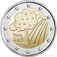 Euros: MALTA 2 EUROS 2019 CONM. CENT. NATURALEZA Y MEDIO AMBIENTE - SIN CIRCULAR -. Lote 184891615