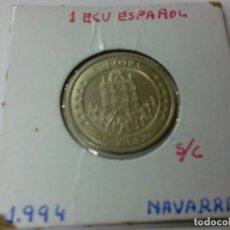 Euros: MONEDA 1 ECU ESPAÑOL S/C NAVARRA AÑO 1994. Lote 185098601