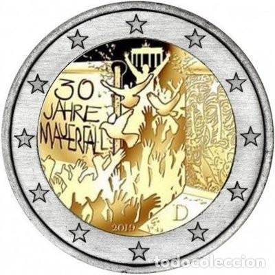 ALEMANIA 2 EUROS 2019 -CAIDA MURO BERLIN- ENCAPSULADA (Numismática - España Modernas y Contemporáneas - Ecus y Euros)