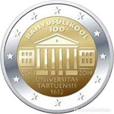 Euros: ESTONIA 2019 2€ CENTENARIODE LA FUNDACIÓN DE LA UNIVERSIDAD DE TARTU. Lote 187419006