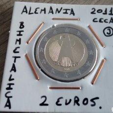 Euros: MONEDA 2 EUROS ALEMANIA 2011 CECA J MBC ENCARTONADA. Lote 188736247