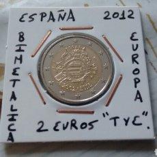 Euros: MONEDA 2 EUROS ESPAÑA 2012 TYE MBC ENCARTONADA. Lote 277850393