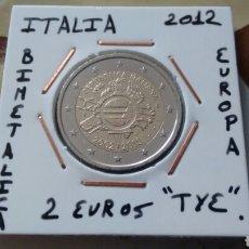 Euros: MONEDA 2 EUROS ITALIA 2012 TYE MBC ENCARTONADA. Lote 222430488