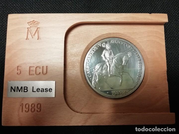 Euros: MONEDA 5 ECUS DE PLATA CARLOS V AÑO 1989 - Foto 2 - 190757306