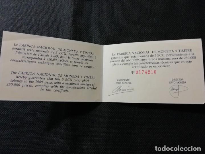 Euros: MONEDA 5 ECUS DE PLATA CARLOS V AÑO 1989 - Foto 5 - 190757306