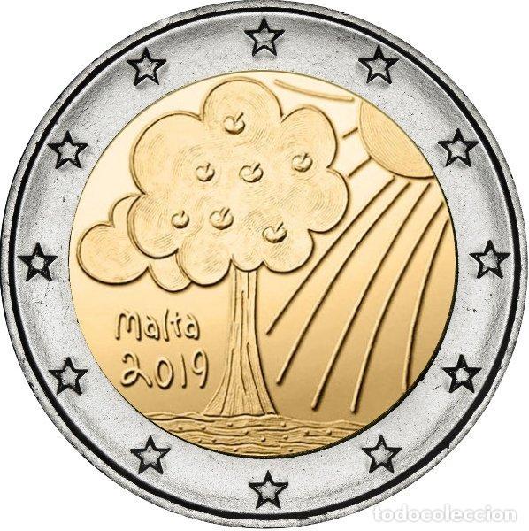 MALTA 2019. MONEDA DE 2 EUROS DEDICADA A LA NATURALEZA Y EL MEDIO AMBIENTE (Numismática - España Modernas y Contemporáneas - Ecus y Euros)