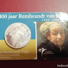 Euros: 5 EUROS PLATA. HOLANDA- 400 AÑOS ANIVERSARIO DE REMBRANDT. AÑO 2996.. Lote 191096696