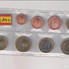 Euros: TIRA DE LAS MONEDAS DE EURO DE ESPAÑA 2007. SIN CIRCULAR.. Lote 233613330
