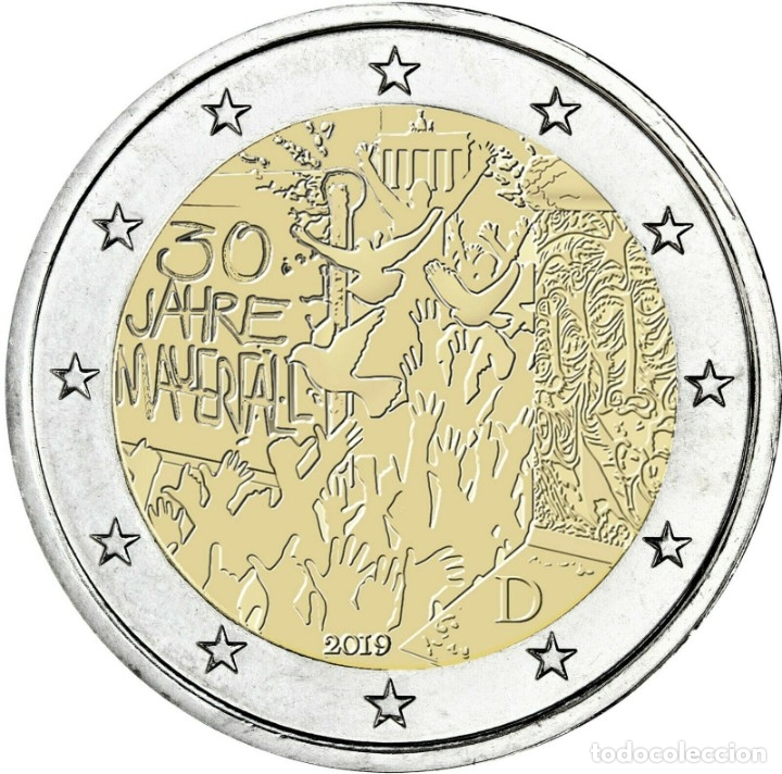 ALEMANIAL 2 EUROS 2019 CONM. 30 AÑOS CAIDA MURO DE BERLÍN- SIN CIRCULAR - (Numismática - España Modernas y Contemporáneas - Ecus y Euros)