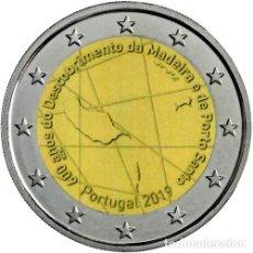 Euros: PORTUGAL 2 EUROS 2019 CONM. MADEIRA Y PORTO SANTO - SIN CIRCULAR -. Lote 191240101
