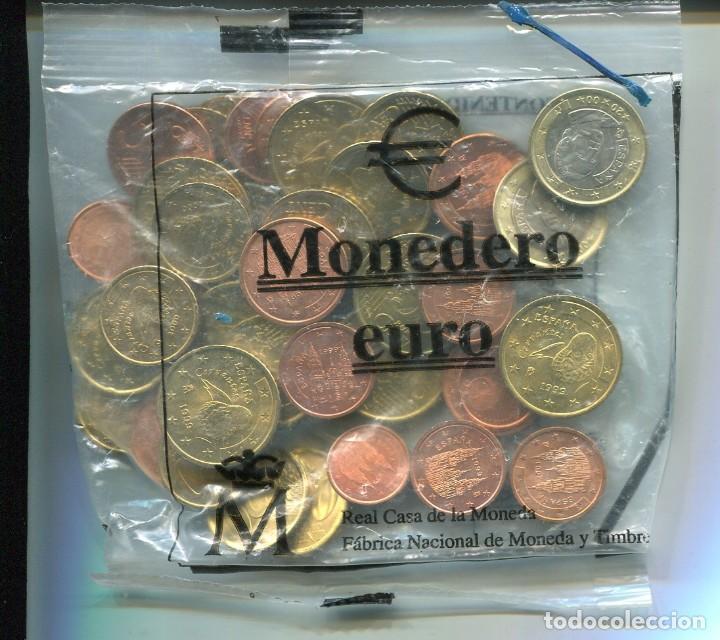 MONEDERO EURO 2-04-01 VALOR EUROS: 12,02 CONTENIDO 43 MONEDAS (SIN ABRIR) (Numismática - España Modernas y Contemporáneas - Ecus y Euros)