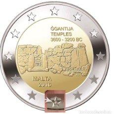 Euros: MALTA 2 EUROS 2016 CONM. TEMPLOS DE GGANTIJA - CON MARCA DE CECA F MDP -. Lote 191866455