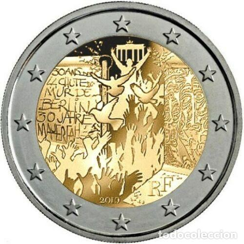 FRANCIA 2019 2€ 30 AÑOS DE LA CAÍDA DEL MURO DE BERLÍN (Numismática - España Modernas y Contemporáneas - Ecus y Euros)