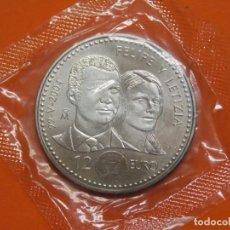 Euros: MONEDA DE PLATA - 12 EUROS , AÑO 2004 - BODA FELIPE Y LETIZIA - EN SU BOLSA ORIGINAL ... L650. Lote 192006200