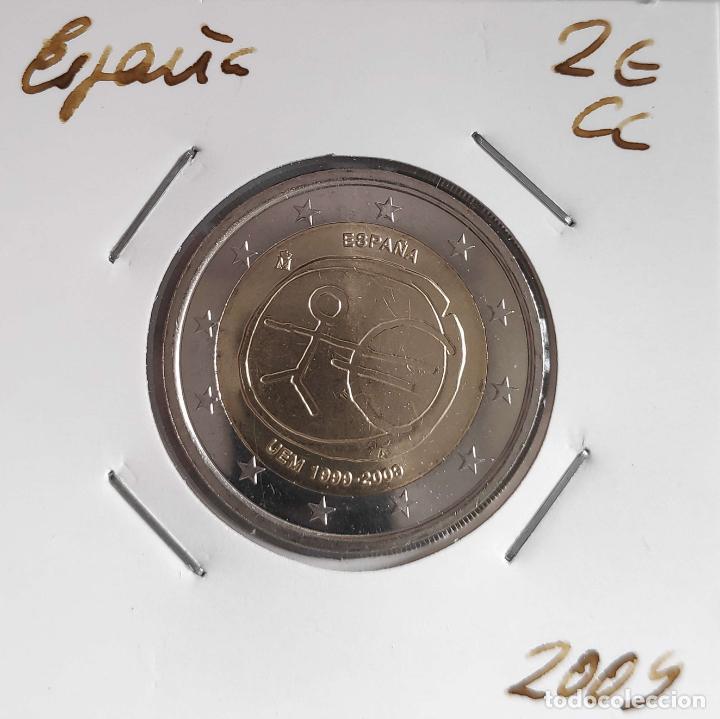 MONEDA DE 2 € CC ESPAÑA 2009, UME, ERROR CECA EMPASTADA (Numismática - España Modernas y Contemporáneas - Ecus y Euros)