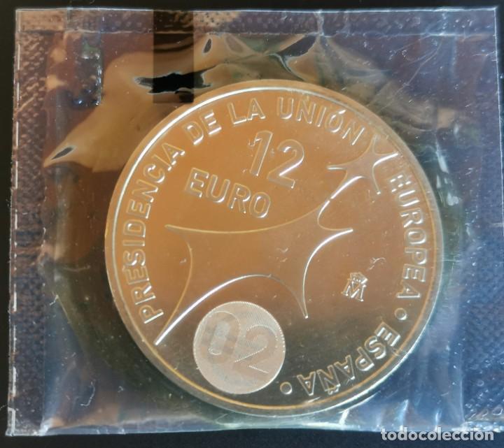 MONEDA 12 EUROS PLATA 2002 S/C EN BOLSA ORIGINAL FNMT (Numismática - España Modernas y Contemporáneas - Ecus y Euros)