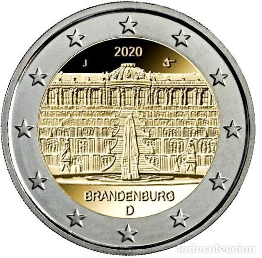 ALEMANIA 2 EUROS 2020 ESTADO DE BRANDEBURGO- PALACIO DE SANSSOUCI EN POTSDAM G (Numismática - España Modernas y Contemporáneas - Ecus y Euros)