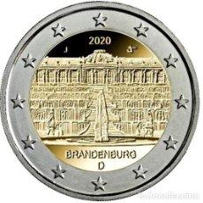 Euros: ALEMANIA 2 EUROS 2020 ESTADO DE BRANDEBURGO- PALACIO DE SANSSOUCI EN POTSDAM G. Lote 193053677