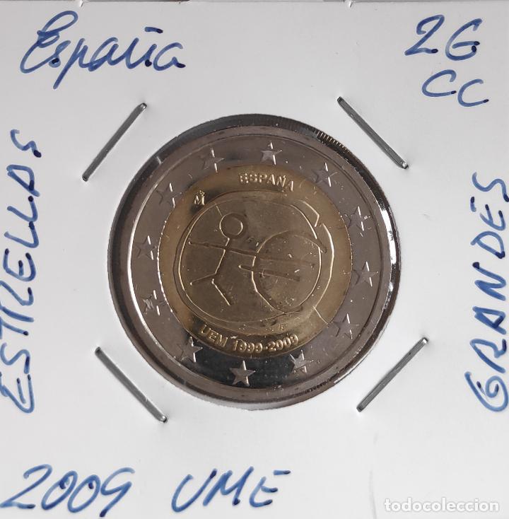 MONEDA DE 2 € CC ESPAÑA 2009, UME ESTRELLAS GRANDES (Numismática - España Modernas y Contemporáneas - Ecus y Euros)