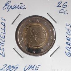 Euro: MONEDA DE 2 € CC ESPAÑA 2009, UME ESTRELLAS GRANDES. Lote 247347230