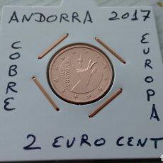 Euros: ANDORRA 2 EURO CENT 2017 EBC ENCARTONADA. Lote 193915266